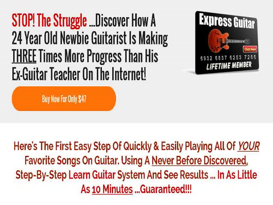 Express Guitar – Learn Guitar Product