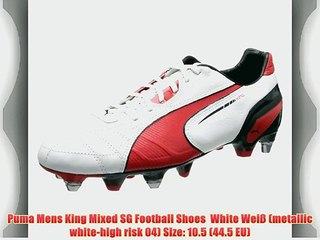Puma Mens King Mixed SG Football Shoes White Wei? (metallic white high risk 04) Size: 10.5