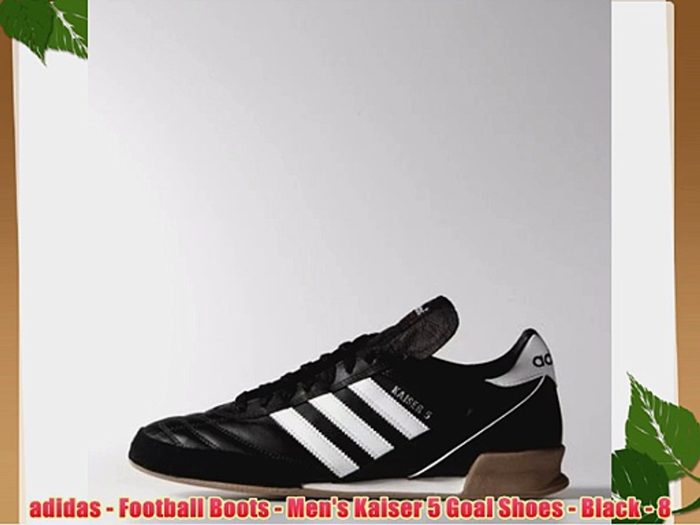 ADIDAS KAISER 5 Goal Indoor Football Trainers Black Size 9.5