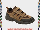 Mens Khaki and Brown Triple Touch Fastening Trail Shoe - Ascend - Khaki Brown - size UK Mens