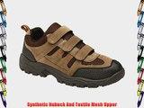 Mens Khaki and Brown Triple Touch Fastening Trail Shoe - Ascend - Khaki Brown - size UK Mens