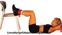 Como marcar el abdomen con ejercicios abdominales | Ejercicios para perder barriga