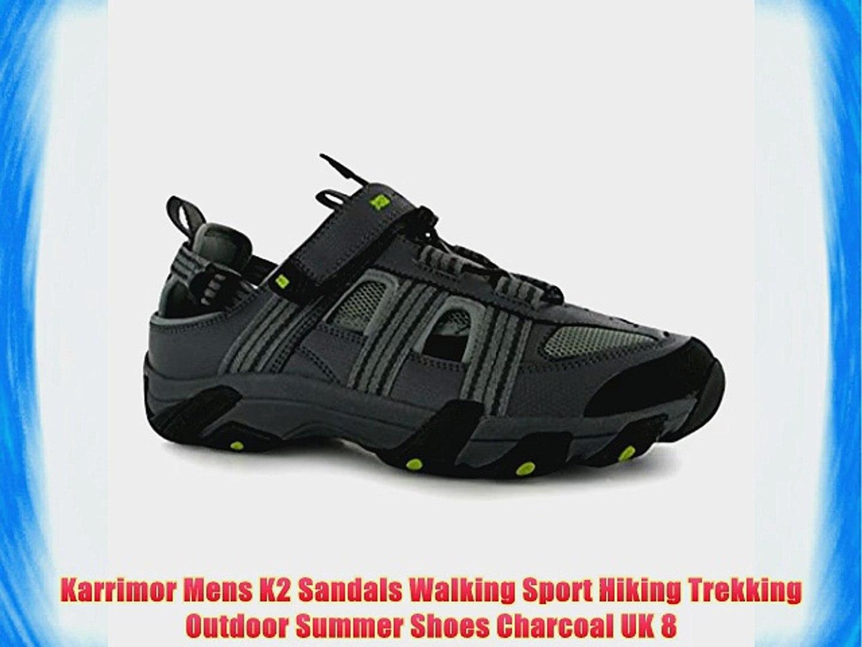 e08f1de41a2 Karrimor Mens K2 Sandals Walking Sport Hiking Trekking Outdoor Summer Shoes  Charcoal UK 8