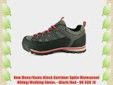 New Mens/Gents Black Karrimor Spike Waterproof Hiking/Walking Shoes. - Black/Red