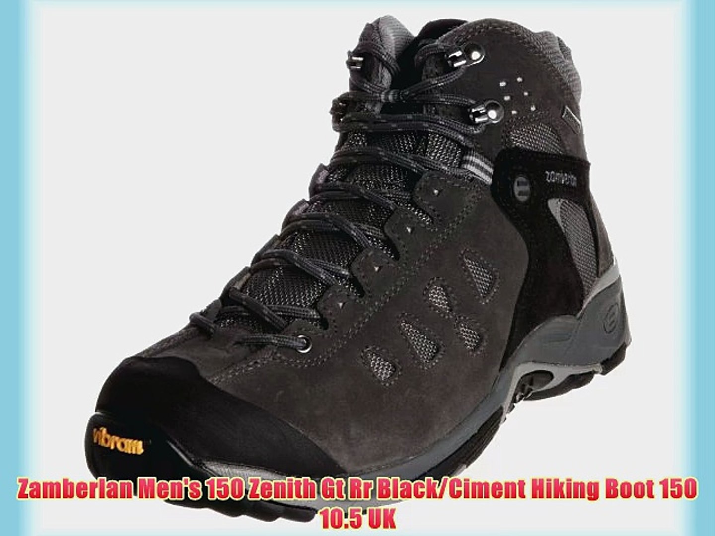 85d0ce96e1f Zamberlan Men's 150 Zenith Gt Rr Black/Ciment Hiking Boot 150 10.5 UK