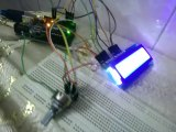 Static and moving Text display in a single LCD Arduino Radan Pathan