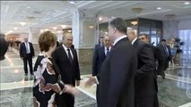 Poroshenko meets Putin in Minsk: EU and Eurasian Union leaders gather in Belarus