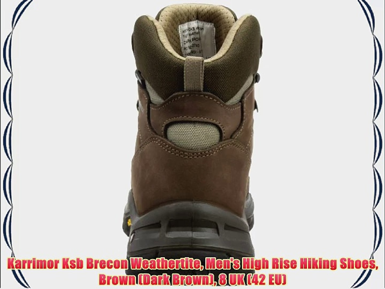 43fefe716aa Karrimor Ksb Brecon Weathertite Men's High Rise Hiking Shoes Brown (Dark  Brown) 8 UK (42 EU)