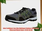 Gola Trailblazer Low Men Multisport Outdoor Shoes Grey (Charcoal/Black/Lime) 10 UK (44 EU)