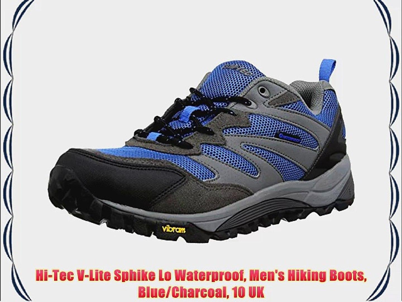 7289a239283 Hi-Tec V-Lite Sphike Lo Waterproof Men's Hiking Boots Blue/Charcoal 10 UK