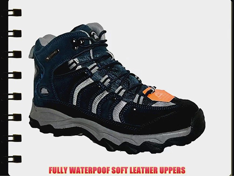 NorthWest Trek Womens WaterProof Leather Lace Up Walking Hiking Boots Grey UK 8