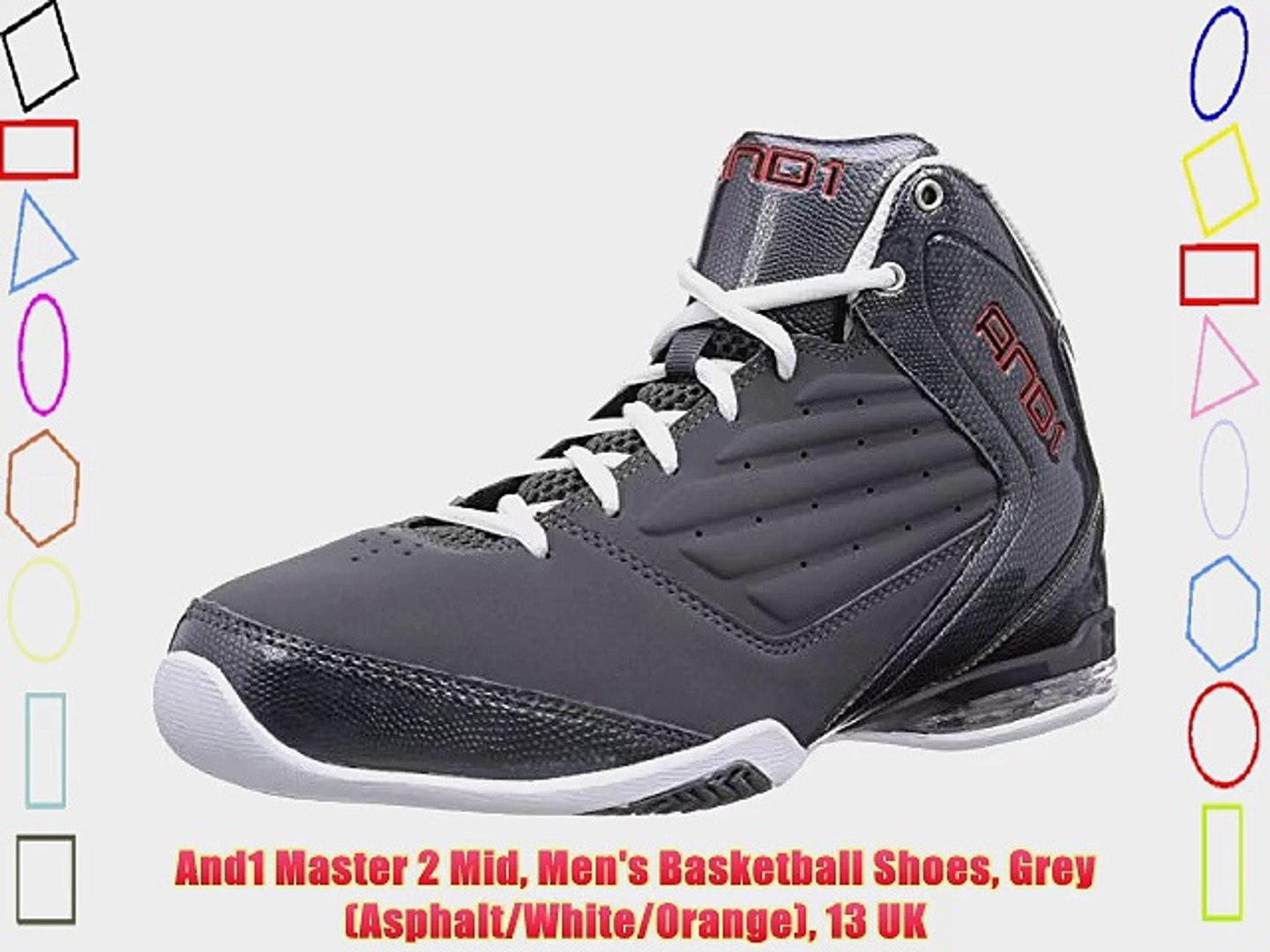 And1 Master 2 Mid Men's Basketball Shoes Grey (AsphaltWhite
