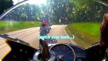 Yamaha R6 vs. Kawasaki ZX-10R Highspeed Chase - German Autobahn