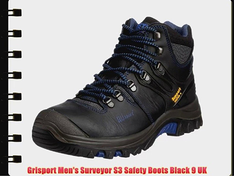 a77eaf75fda Grisport Men's Surveyor S3 Safety Boots Black 9 UK