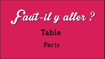 """Faut-il y aller?"" - Table"