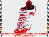 WIN Women's and Men's W All-Road Bicycle Shoes MTB Cycling Shoes (UK 7.5 White for MTB)