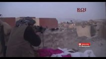 Iraq War 2015   Heavy Fighting During Clashes Between Kurdish Fighters And IS In Sinjar