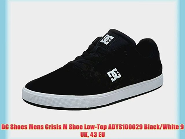 4c2bc4031ada8 DC Shoes Mens Crisis M Shoe Low-Top ADYS100029 Black/White 9 UK 43 EU
