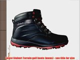 2015 Stuburt Terrain Leather Golf Waterproof Boots Mens Winter Shoes Black/Burgundy 8 UK