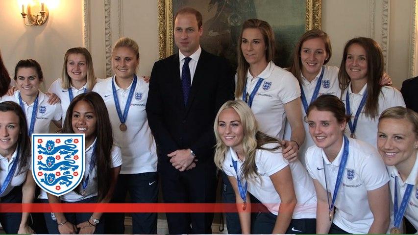 England Women's Team meet Prince William & David Cameron