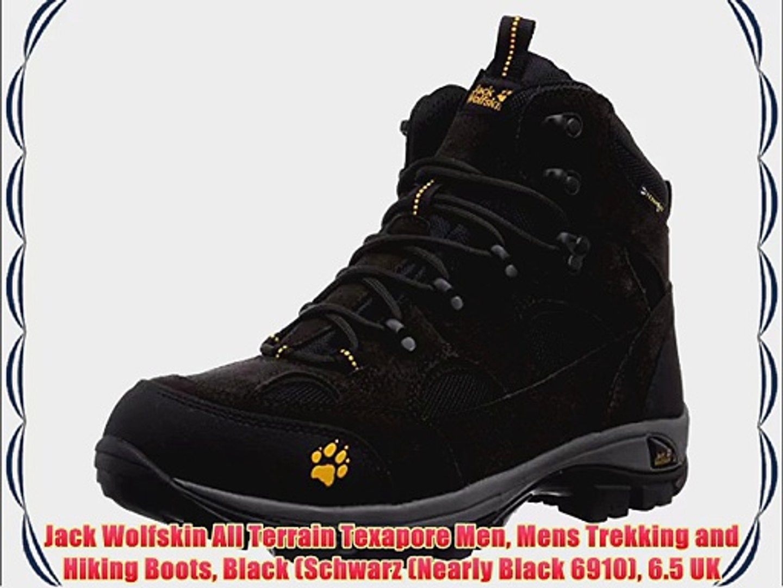 27c85a54440 Jack Wolfskin All Terrain Texapore Men Mens Trekking and Hiking Boots Black  (Schwarz (Nearly