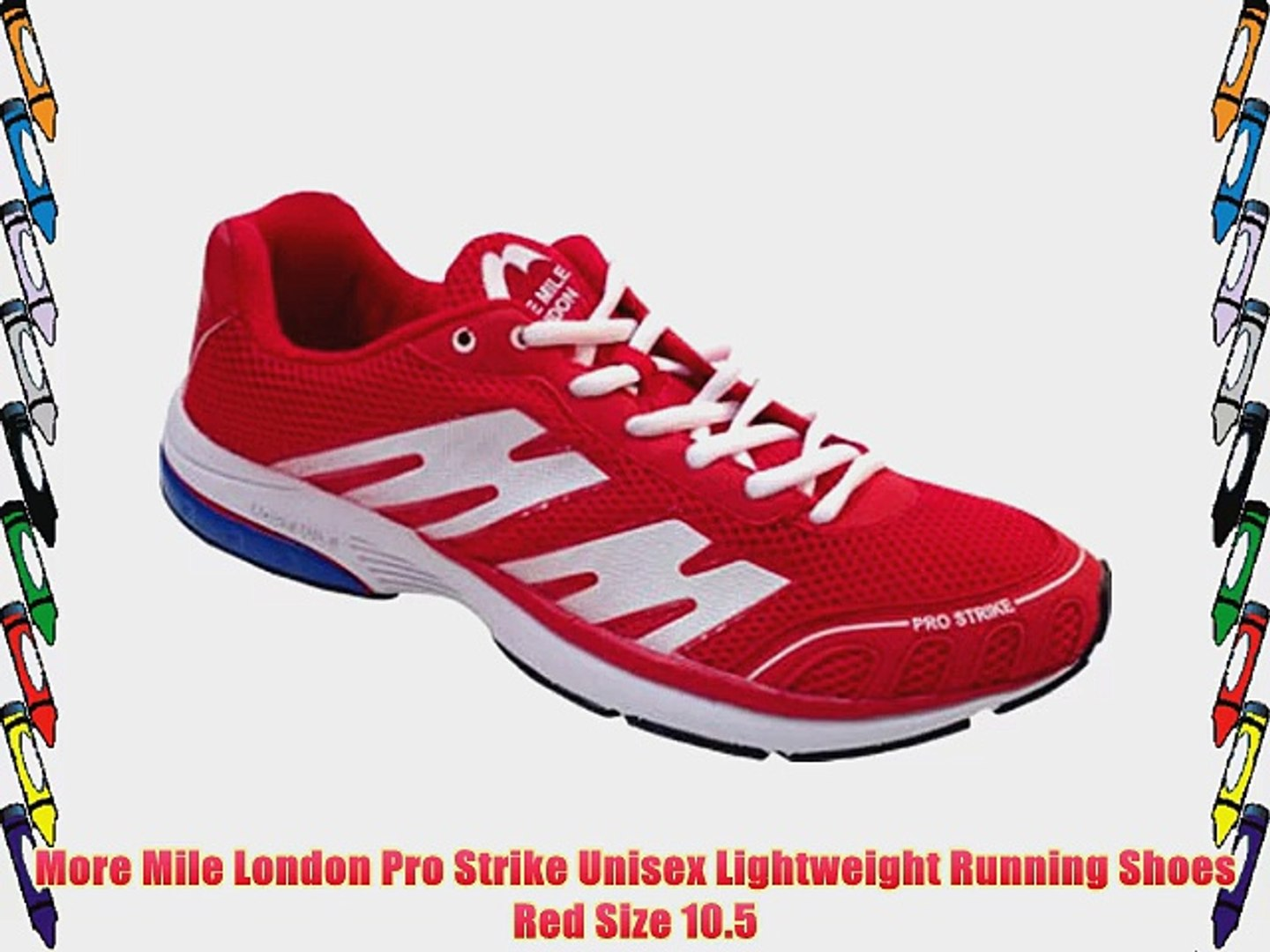 More Mile London Pro Strike Unisex Lightweight Running Shoes Red Size 10.5