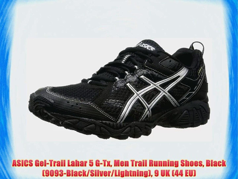 ASICS Gel Trail Lahar 5 G Tx Men Trail Running Shoes Black (9093 BlackSilverLightning) 9