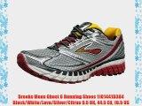 Brooks Mens Ghost 6 Running Shoes 1101441D384 Black/White/Lava/Silver/Citrus 9.5 UK 44.5 EU
