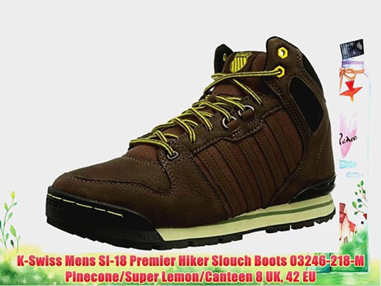 ce8ac2052c0 K-Swiss Mens SI-18 Premier Hiker Slouch Boots 03246-218-M Pinecone/Super  Lemon/Canteen 8 UK