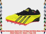 adidas Performance Sprint Star 4 M Clogs And Mules Mens Yellow  (Vivid Yellow S13 / Black 1