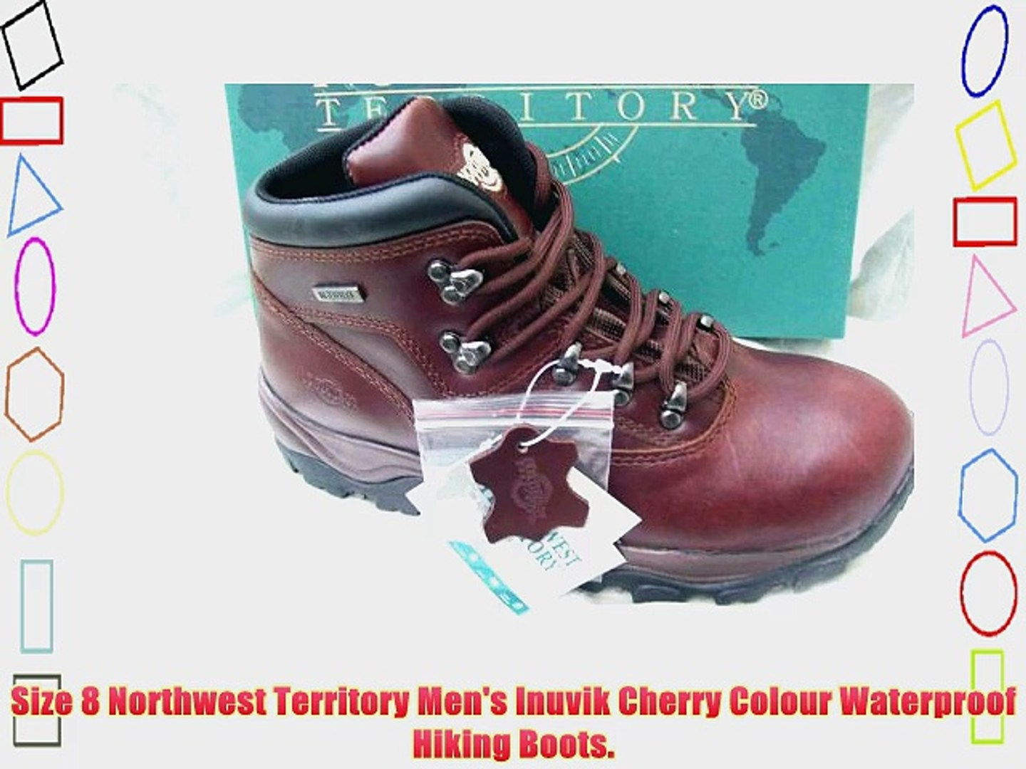 27701d24cc1 Size 8 Northwest Territory Men's Inuvik Cherry Colour Waterproof Hiking  Boots.
