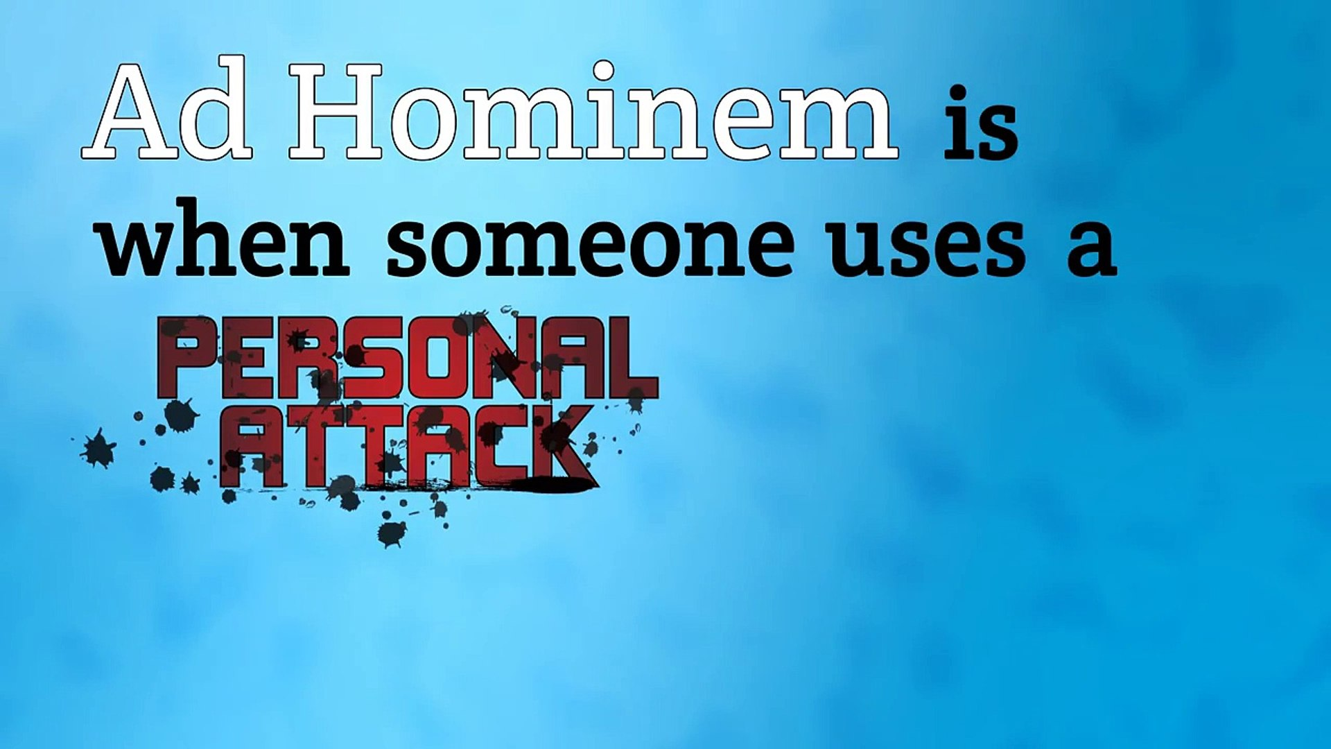 Ad Hominem - video Dailymotion