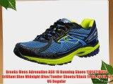 Brooks Mens Adrenaline ASR 10 Running Shoes 1101471D375 Brilliant Blue Midnight Blue/Tender