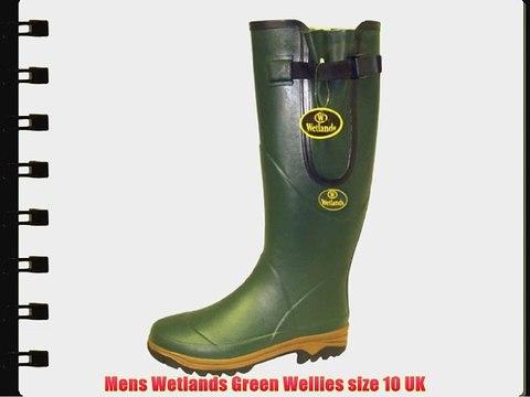 Mens Wetlands Green Wellies size 10 UK