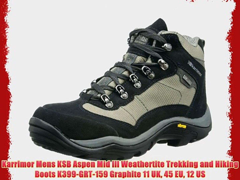 8a6e7bf9ab5 Karrimor Mens KSB Aspen Mid lll Weathertite Trekking and Hiking Boots  K399-GRT-159 Graphite