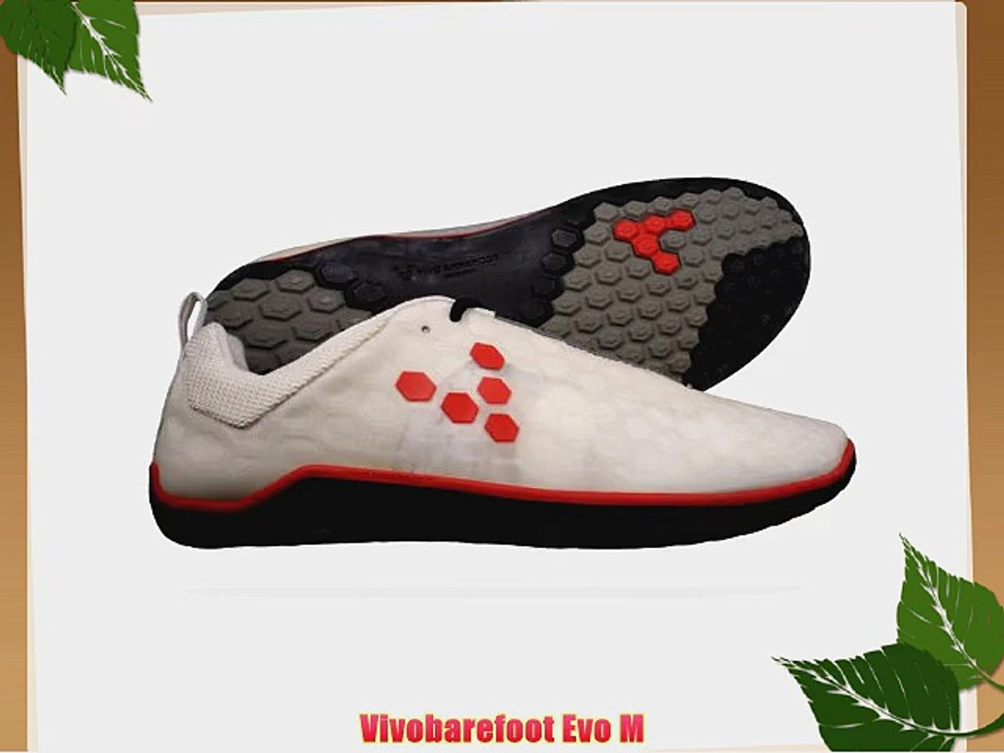 Vivobarefoot Evo M Mens Running Trainers / Shoes - White : Red - SIZE UK 10.5