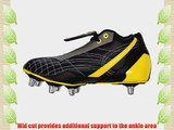 Webb Ellis Cobra VS Mid Cut Mens Soft Toe Rugby Boots - Black - 6UK