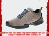 Ecco Mens Biom Train Warm Grey Warm Grey Sue Starb Lace-Ups Gray Grau (WARM GREY WARM GREY)