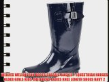 WELLIES WELLINGTON BOOTS CLASSIC BUCKLE / EQUESTRIAN HORSES OLDER GIRLS KIDS CHILDRENS LADIES