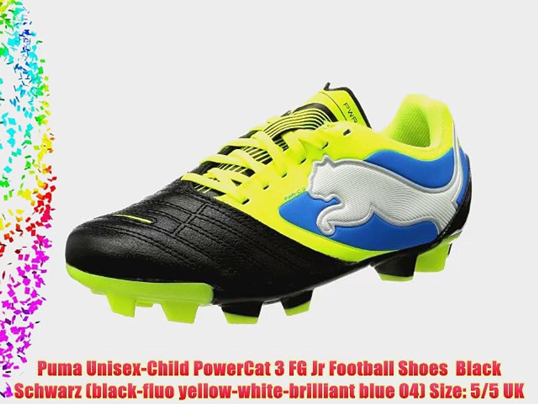 Puma Unisex Child PowerCat 3 FG Jr Football Shoes Black Schwarz (black fluo yellow white brilliant