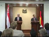 Press Conference with Minister George Yeo and German FM (1)