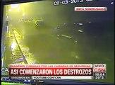 C5N - TEMPORAL EN BUENOS AIRES: ASI EMPEZABAN LOS DESTROZOS EN VILLA LUGANO