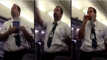 Hilarious Westjet Flight Attendant Safety Demo Leaves Passengers In Stitches