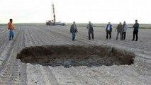 Huge Sinkhole Opens Up Leaving Locals 'Terrified' In Turkey