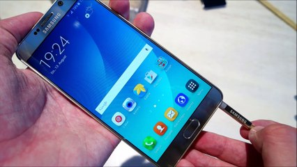 Samsung Galaxy Note 5 S-Pen Features (hands on deutsch)