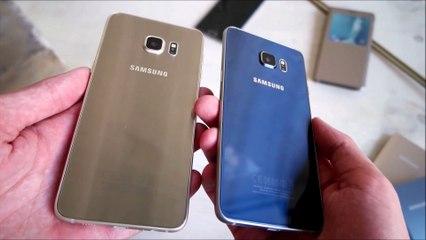 Samsung Galaxy S6 edge Plus Gold Platinum vs Black Sapphire (deutsch)
