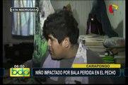arapongo: niño herido por bala perdida tras enfrentamiento entre policías y delincuentes