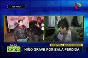 Carapongo: niño herido por bala perdida tras enfrentamiento entre policías y delincuentes