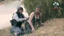 Syria-  FSA Terrorists RUN from Syrian Arab Army [HQ] 02-04-2013