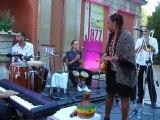 Okute y Eliene CASTILLO BERRERO . JAZZ CUBAIN PARTY 1 . HOTEL IMPERATOR NIMES . BELLES RENCONTRES DU JAZZ 2015 .